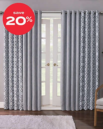 20% off Quinn 100% blackout window curtains