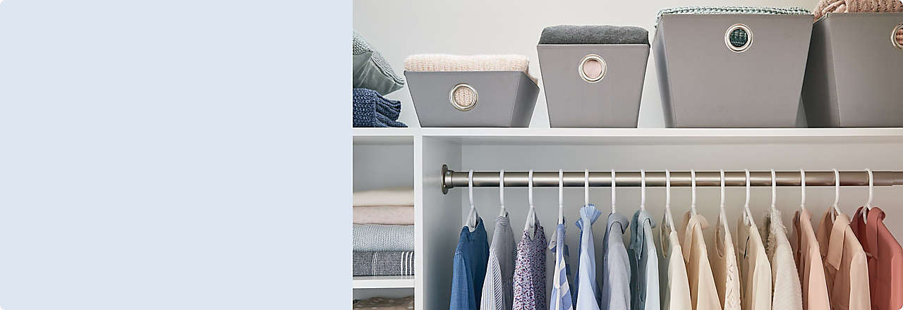 Keep every room organized with boxes, bins, caddies, and more.