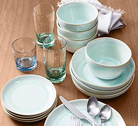 add colorful dinnerware