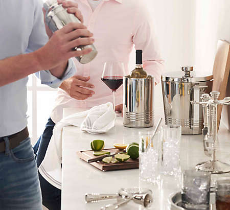 curate an at-home bar