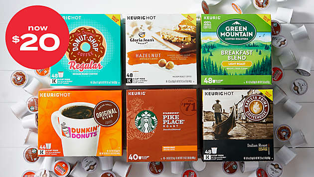 now $20! Keurig® K-Cup® pods 36-48ct value & variety packs