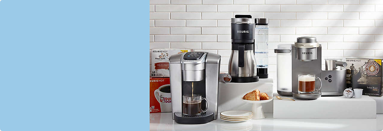 Machines and K-Cup Pods for coffee connoisseurs and latte lovers.
