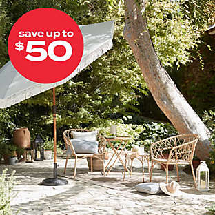up to $50 off select outdoor furniture