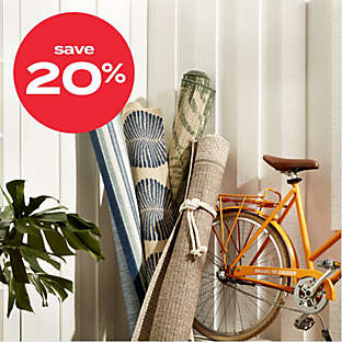 20% off select outdoor rugs