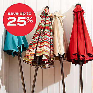 up to 25% off select umbrellas