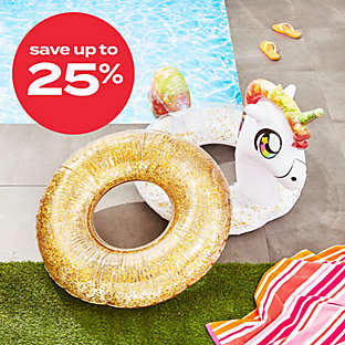 up to 25% off select pool accessories
