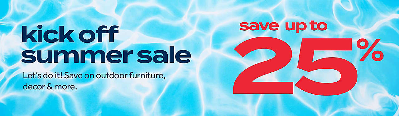 save up to 25% summer sale