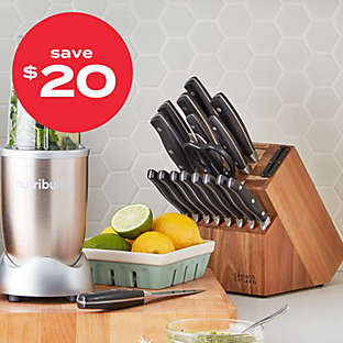 up to $20 off knife blocks