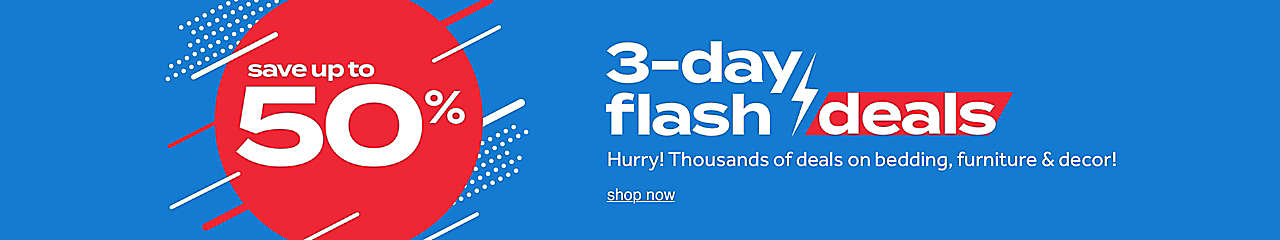 save up to 50% 3-day flash deals