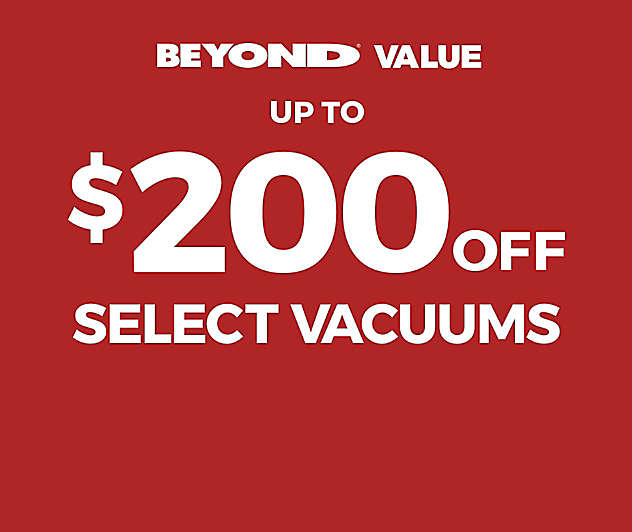 Big Savings on Top Vacuums