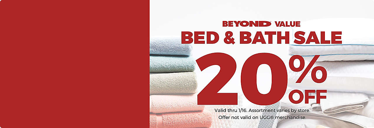 Bed & Bath Sale 20% off