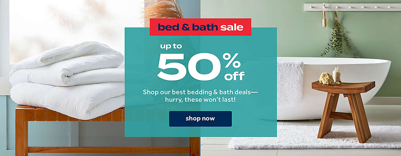 Shop our best bedding & bath deals— hurry, these won't last!