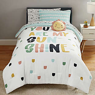 Colorful, kid-friendly bedding for sweet dreams.