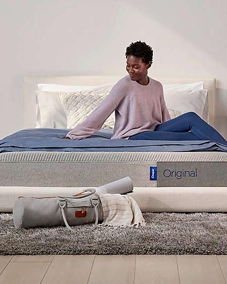 Sleep, lounge, or study on Casper™ bedding.