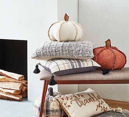 relax with throw pillows