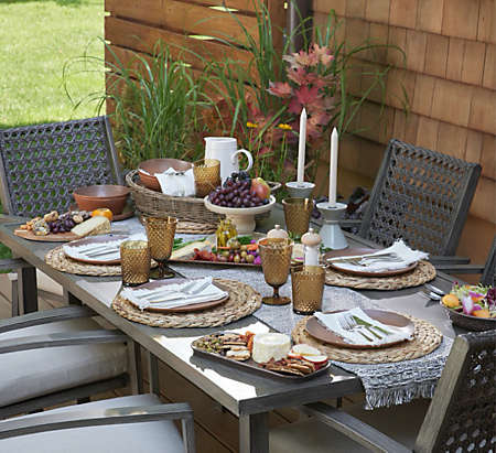 Bring out the colors of autumn for entertaining.
