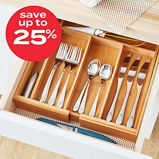 Up to 25% off select kitchen organization