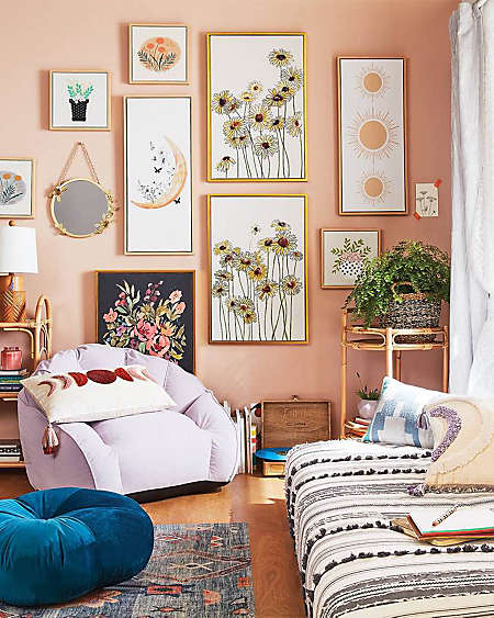 Enjoy a pop of color with eclectic art from Wild Sage™.