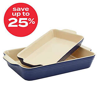 Our Table™ 2pc stoneware rectangular bakers set