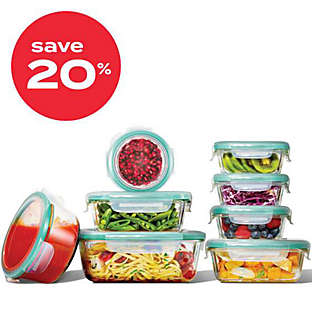 OXO Good Grips® SmartSeal 16pc glass food storage container set