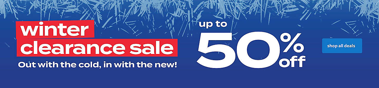 up to 50% off winter clearance sale