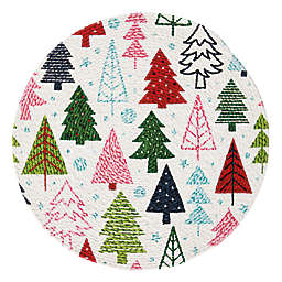 H for Happy™ Evergreen Winter Tree Round Placemat