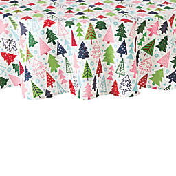 H for Happy™ Holiday Christmas Tree Forest 70-Inch Round Tablecloth