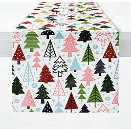 H for Happy™ Holiday Christmas Tree Forest Table Runner
