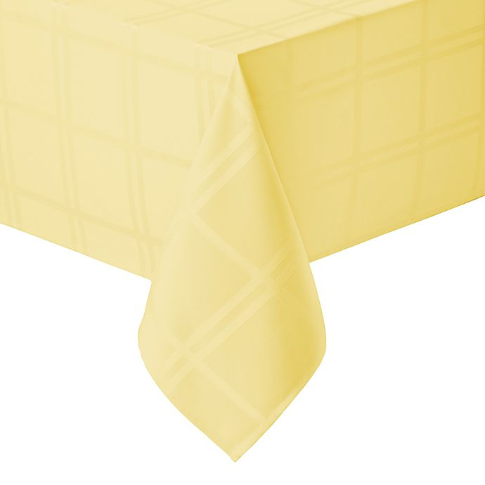 Alternate image 1 for Wamsutta® Solid 52-Inch x 70-Inch Oblong Tablecloth in Canary