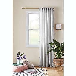 Stacie Tassel Stripe Window Curtain White 84 (Single)