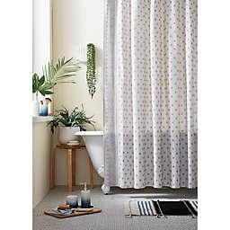 Wild Sage™ Keilana Embroidered Shower Curtain in Grey