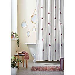 Wild Sage™ 72-Inch x 72-Inch Jordana Stitched Stripe Shower Curtain in Lavender