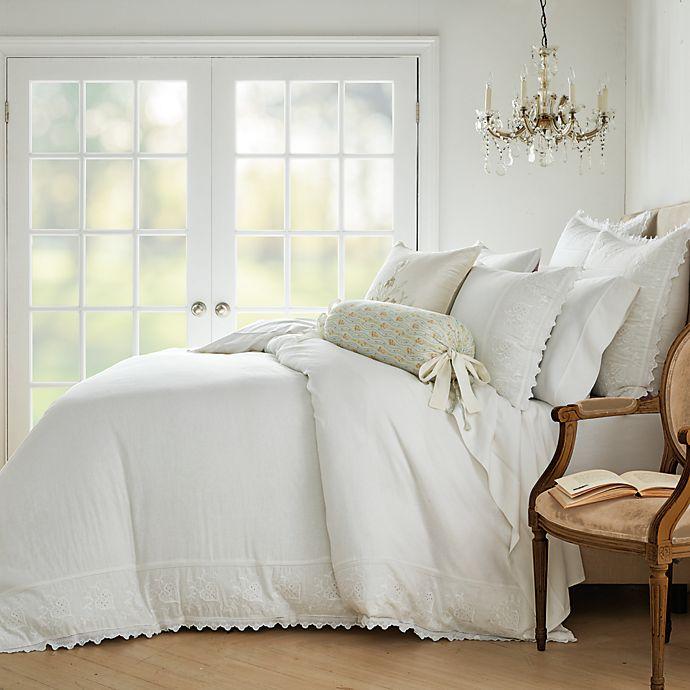 Alternate image 1 for Wamsutta® Vintage Lantier 3-Piece Duvet Cover Set in Bright White