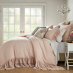 Wamsutta® Vintage Vouvant 3-Piece King Duvet Cover Set in Peach
