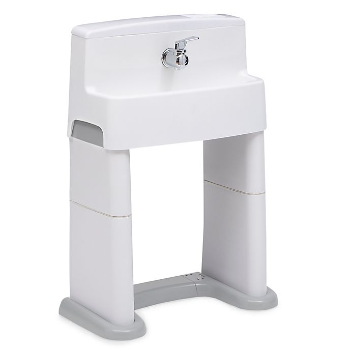 Alternate image 1 for Delta Children® PerfectSize 3-in-1 Convertible Sink in White/Grey