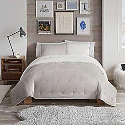 UGG® Devon Faux Sherpa 2-Piece Reversible Twin/Twin XL Comforter Set in Oatmeal