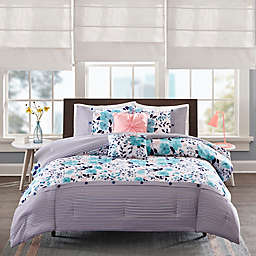 Intelligent Design Delle Reversible Comforter Set in Blue