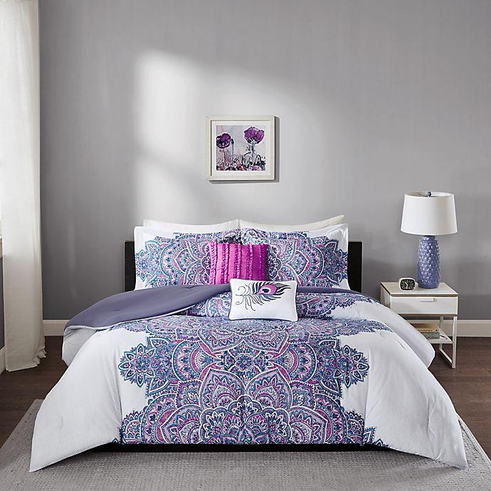 Alternate image 1 for Intelligent Design Mila Comforter Set in Purple