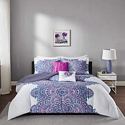Intelligent Design Mila Full/Queen Comforter Set in Purple
