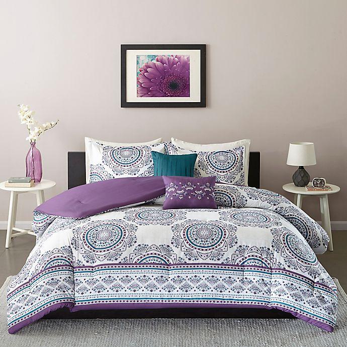 Alternate image 1 for Intelligent Design Anika Twin/Twin XL Comforter Set in Purple