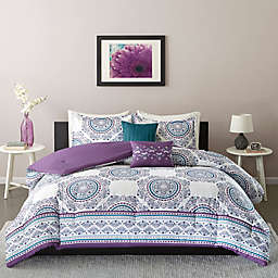 Intelligent Design Anika Full/Queen Comforter Set in Purple
