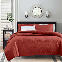 Madison Park Quebec 3-Piece Reversible King/California King Coverlet Set in Red