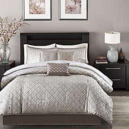 Madison Park Biloxi 7-Piece King Comforter Set in Silver