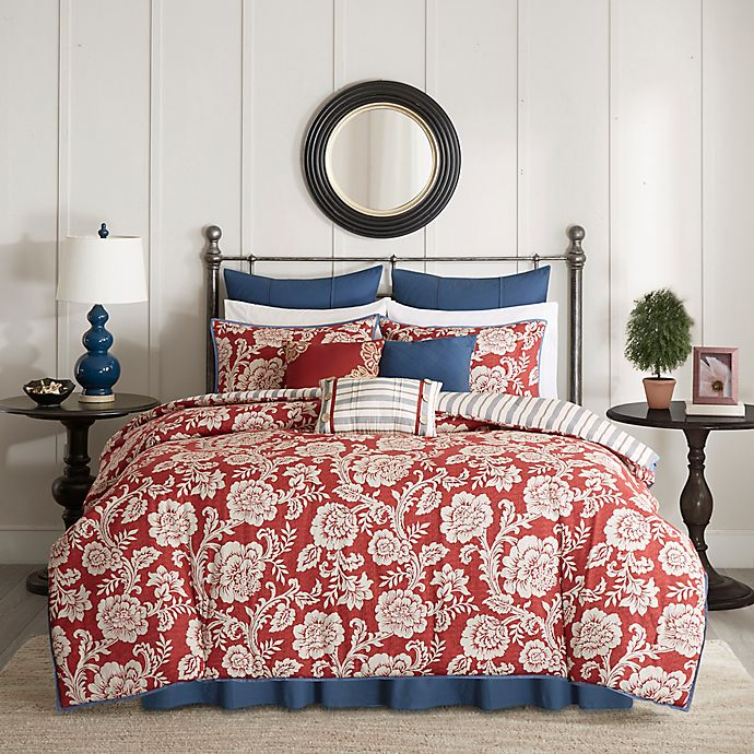 Alternate image 1 for Madison Park Lucy Reversible 9-Piece Comforter Set in Red