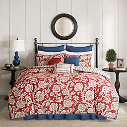 Madison Park Lucy Reversible Duvet Cover Set in Red