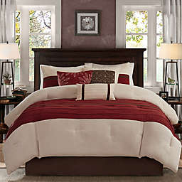 Madison Park® Palmer 7-Piece California King Comforter Set Red