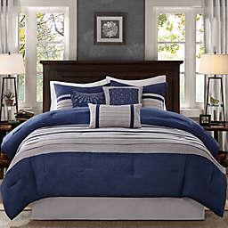 Madison Park® Palmer 7-Piece California King Comforter Set Blue
