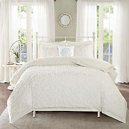 Madison Park Sabrina 4-Piece King / California King Comforter Set in White
