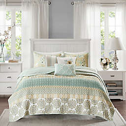 Madison Park Willa 6-Piece King/California King Coverlet Set in Green