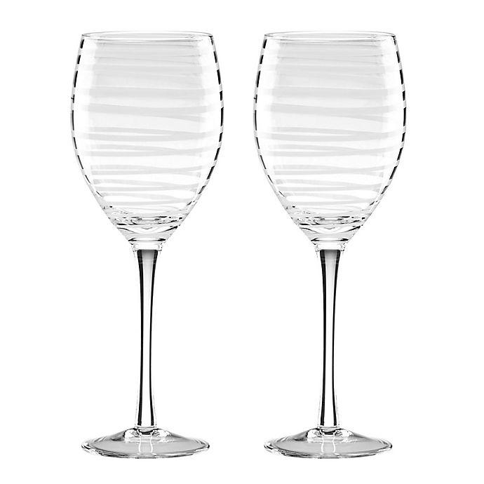 Alternate image 1 for kate spade new york Charlotte Street™ White Wine Glasses (Set of 2)